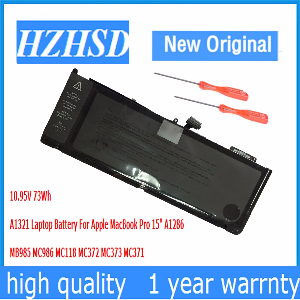 10.95v 77.5wh A1321 Original Laptop Battery For Apple MacBook Pro 15