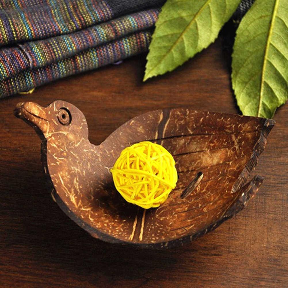 حار بيع الإبداعية شكل اليدوية جوز الهند قذيفة الصابون طبق حالة حامل غسل دش المطبخ المنزل ملحقات الحمام مجموعة صحن الصابون