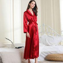 Robe kimono feminino, novo roupão de casamento dama de honra roupões longos cetim