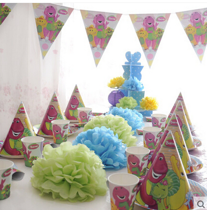 People Decorating For A Party online shop 68pcs pasayione barney character theme party supplies