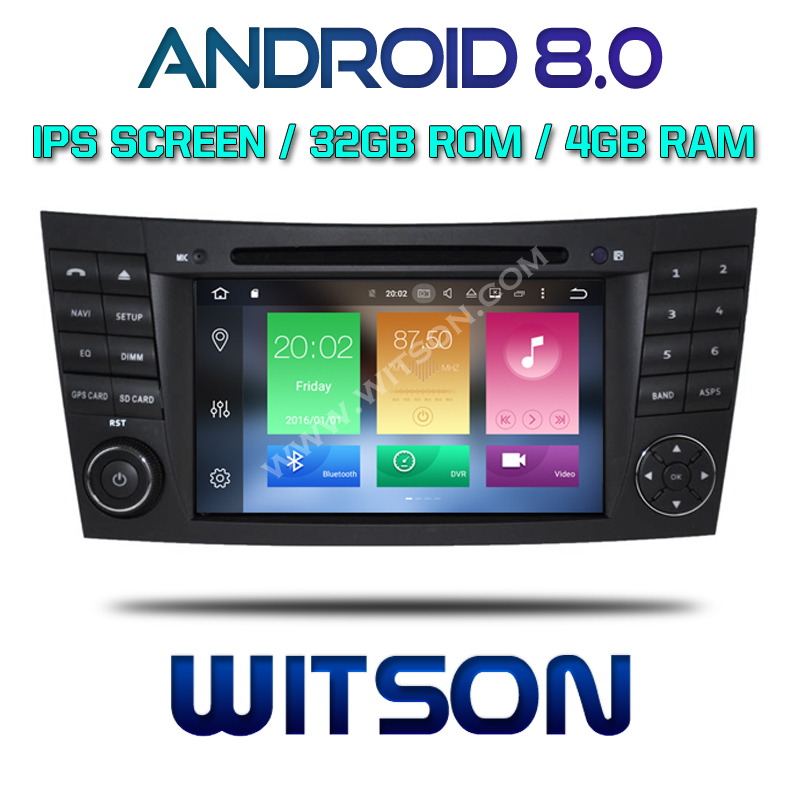 WITSON Android 8.0 Octa- core 4G RAM CAR DVD PLAYER FOR MERCEDES-BENZ E CLASS W211 car audio stereo dvd navigation GPS