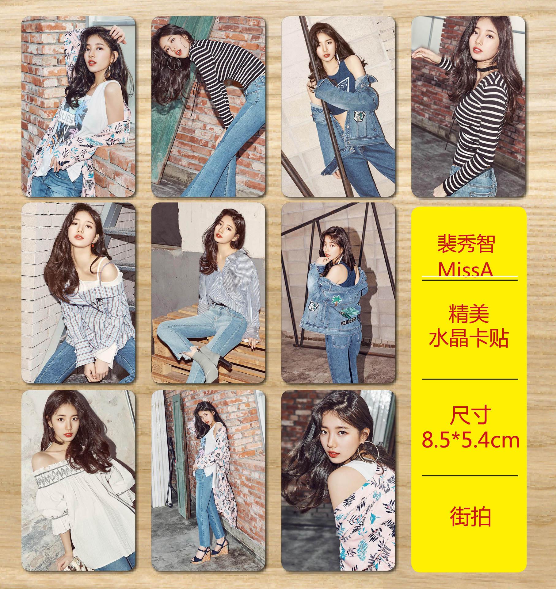 [MYKPOP]MissA SUZY BAE A Photo Album Crystal Sticker KPOP Fans Items 10pcs/set SA18041906