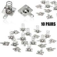 20 pièces plaque de Contact de batterie à ressort en métal argent pour piles AA AAA 14.5x9mm