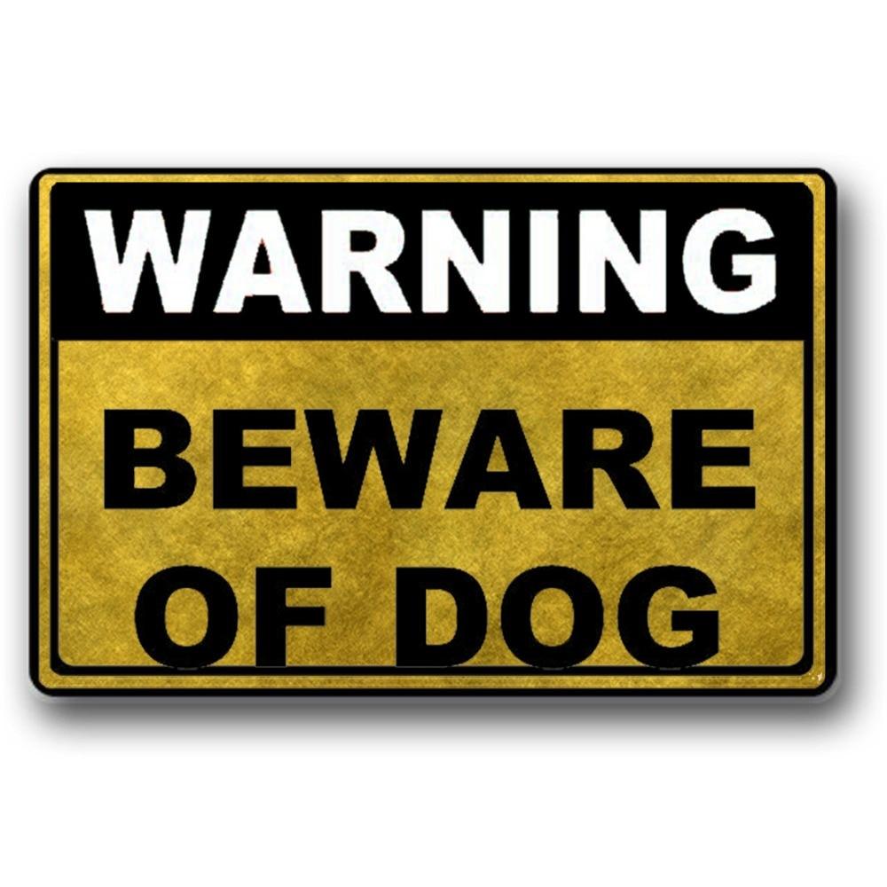 Warning Beware Of Dog Washable Rug Decorative Doormat Indoor Outdoor Doormat 23 6 quot x 15 7 quot No in Mat from Home Garden