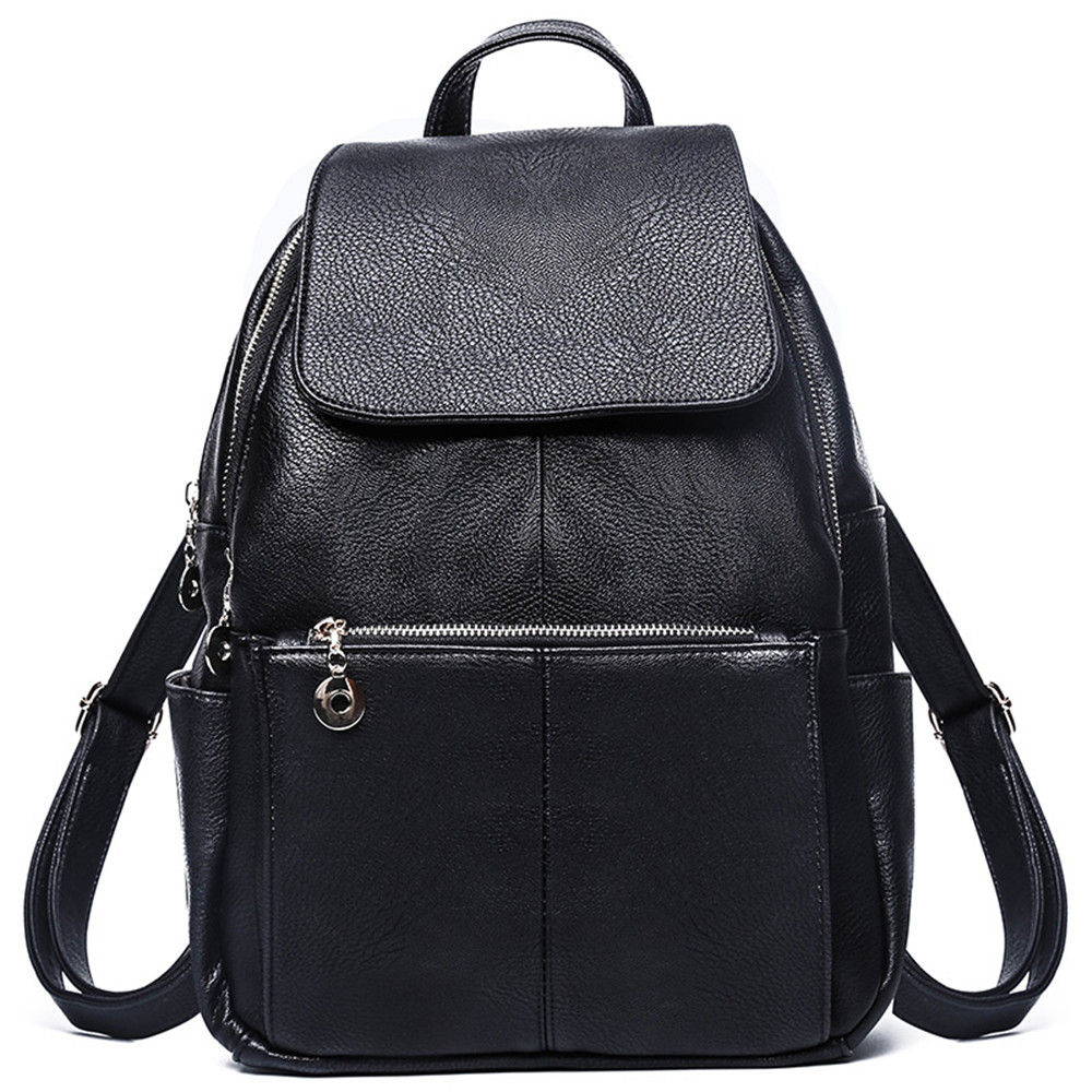 New Soft Leather Backpack Korean Version Of The Trend Of Fashion Ladies Backpack Travel Student Bag