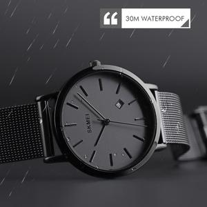 Image 3 - SKMEI Fashion Women Watch Casual Quartz Wristwatches Simple Style 3bar Waterproof Stainless Steel Watchband reloj mujer 1530