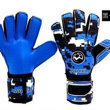 Профессиональный вратарские перчатки защита пальцев утолщенной латекс футбол Перчатки вратаря Футбол вратарские перчатки
