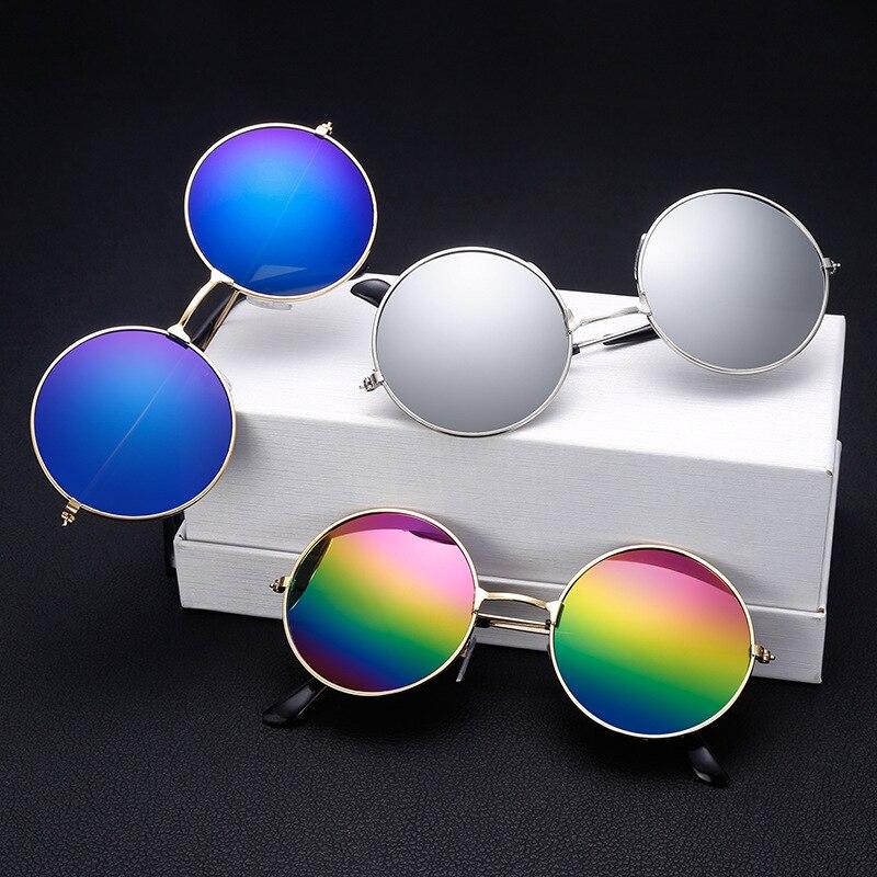 Мода 2017 г. круглые металлические Рамки Солнцезащитные очки для женщин Для мужчин Для женщин ретро классический Принц зеркало Круг Круглый Солнцезащитные очки для женщин Мути Цвета дополнительно