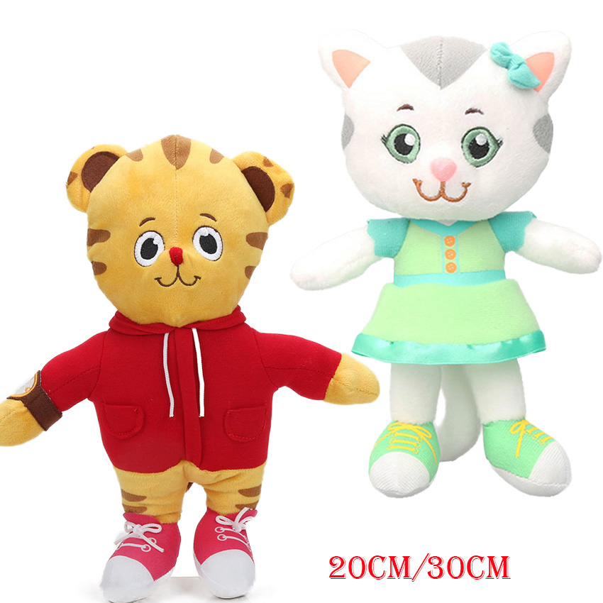 US $5.14 25% OFF|20 cm 30 cm Daniel Tiger der Nachbarschaft Freund Katerina  Kittycat Plus Spielzeug Daniel Tiger Stofftier Puppen juguetes de ...