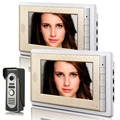 "one camera two monitor 7"" Video Intercom Apartment Door Phone System gold Monitors 1 HD Camera doorbell"