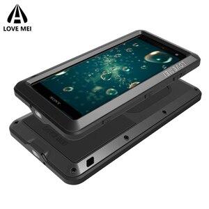Image 3 - Aşk Mei Metal Kasa Sony Xperia XZ3 XZ2 XZ1 Kompakt XA2 Ultra 1 10 Artı XZ Premium Zırh Darbeye Dayanıklı telefon kılıfı Sağlam Kapak