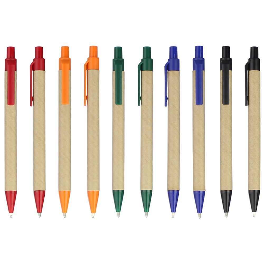 10 adet/grup eko kalem Kırtasiye Kalem toplu Eko Kağıt Kalem, plastik klips Yeşil Konsept Çevre Dostu YZB008G