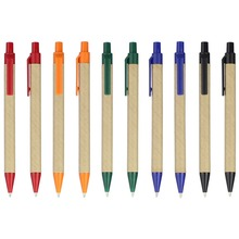 10pcs/Lot eco pen Stationery Pen bulk Eco Paper Pen,plastic Clip Green Concept Environmental Friendly YZB008G