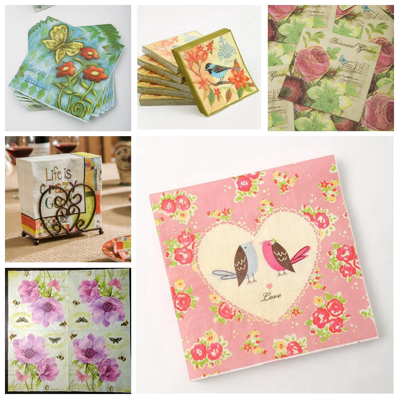 5 Paper Party Napkins for Decoupage  Gift Guard Pack of 5 3 Ply Serviettes