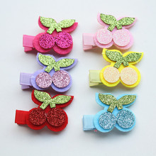 Girls Fruits Hair Accessories Cherry Design Hairpins 1pcs /lot 6 colors Cute Kids Barrettes Fashion Children Clips