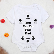 Toddler Baby Girls Boys Bodysuit Letter Printed Newborns Summer Short Sleeved To