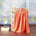 70x100 cm cor Sólida tapete do carro de flanela coral cobertor de lã na altura do joelho do bebê do bebê ar condicionado cobertor coral grossa Panos de veludo
