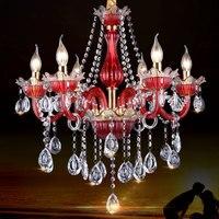 Longree Żyrandol sztuki szkła świeca żyrandol kryształowy żyrandol salon sypialnia jadalnia sala Willa