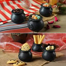 9pcs Vintage Snack Jar Mini Witch Cauldron Multi-purposed Novelty Candy Holder Pot with Handle for Halloween Party Favors