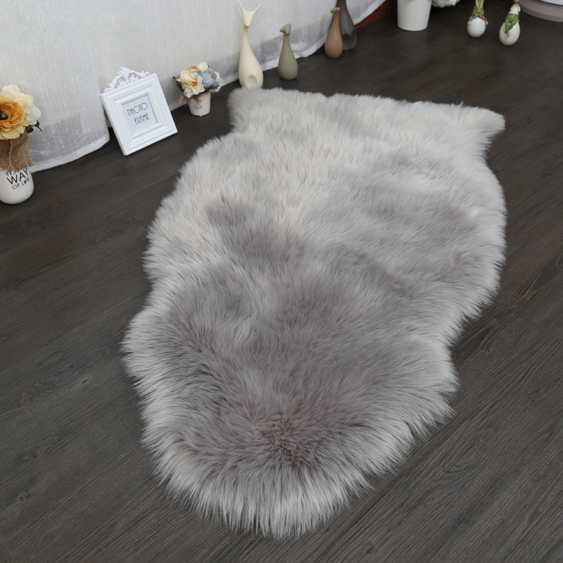 Artificial Wool carpet Sheepskin Fluffy Rugs Soft Home Carpet Chair Cover RugsBedroom Blanket Mat For Kids Living Room Tapete