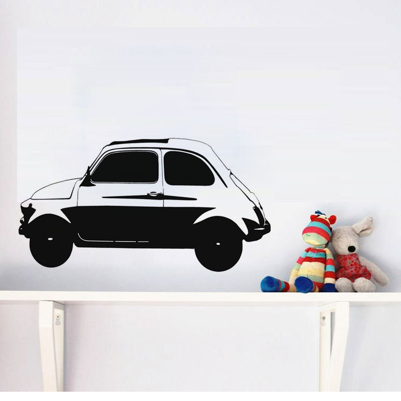 vintage car wall decals for boys bedroom home decor self adhesive removable art wallpaperchina