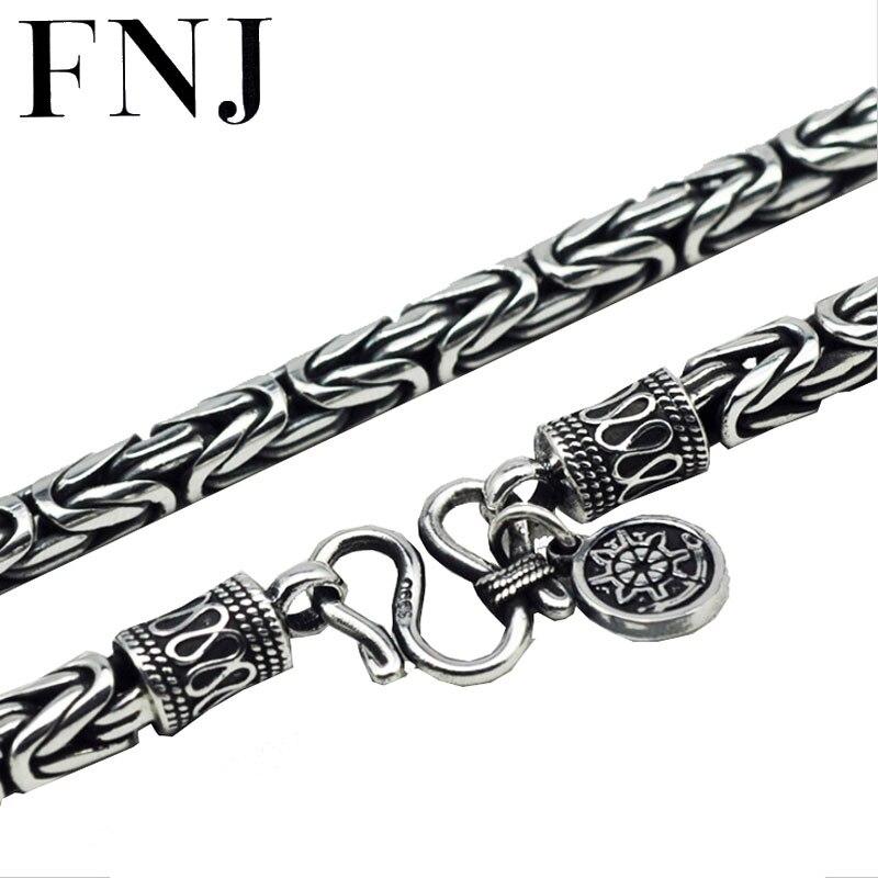 Thai argent 990 Sterling Silver sea rover chaîne collier hommes bijoux 100% Pur solide Argent colliers Corsair N05