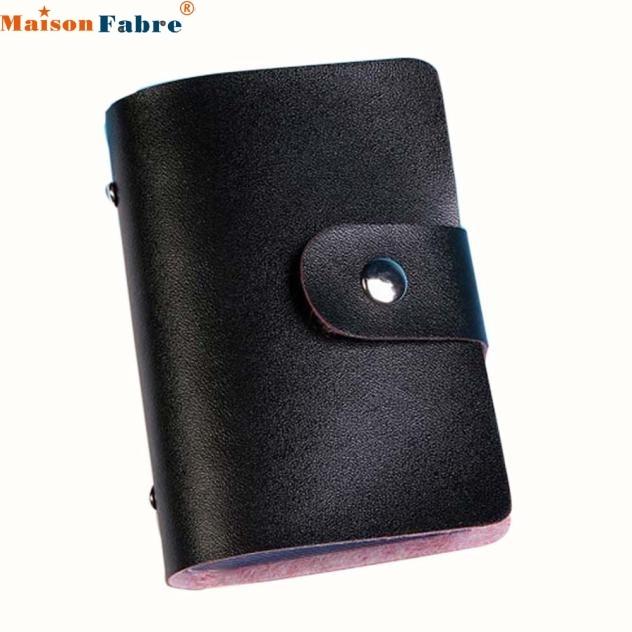 Футляр-держатель для визиток и кредитных карт из искусственной кожи