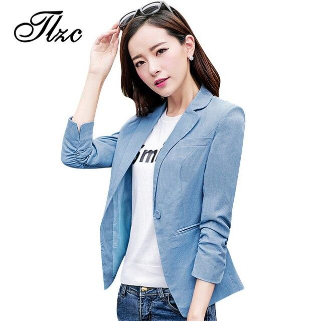 9a0e4a26146 TLZC New Women Career Suit Blazer Solid Color Black   Blue Plus Size M-4XL