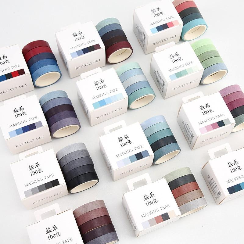 Hengxing Plant Washi Tape DIY Scrapbooking Gift-Wrapping Washi Masking Paper