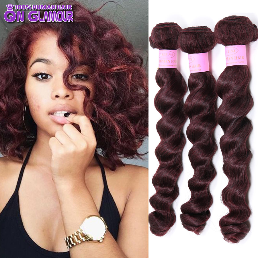 99j virgin hair 7a mink brazilian loose wave hair 3 pcs lot dark 99j virgin hair 7a mink brazilian loose wave hair 3 pcs lot dark red human hair weave brazilian hair extension online in hair weaves from hair extensions pmusecretfo Image collections