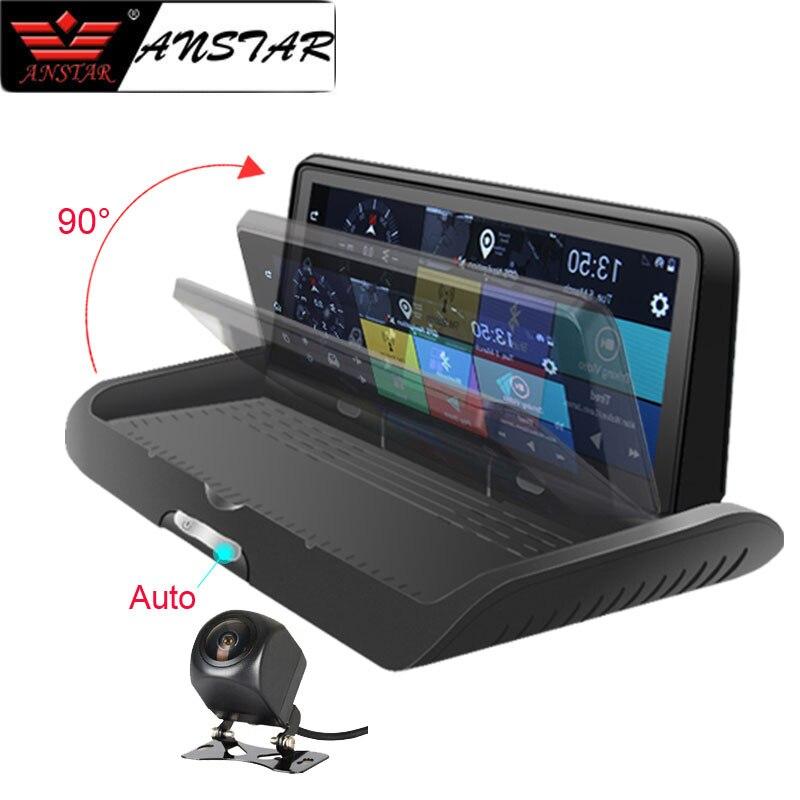 ANSTAR 4G 8 ''Car DVR HD 1080 P Traço Cam Android WiFi GPS Navigator ADAS Secretário de Lente Dupla retrovisor Gravador de vídeo Da Câmera Auto