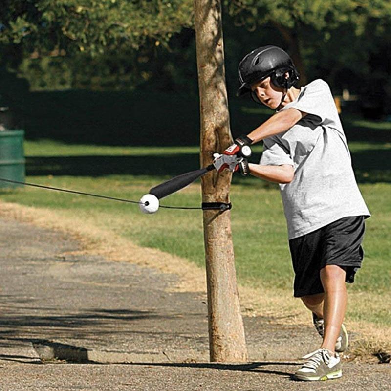 Baseball Batting Trainer Portable PU Swing Training Device Practice Tool