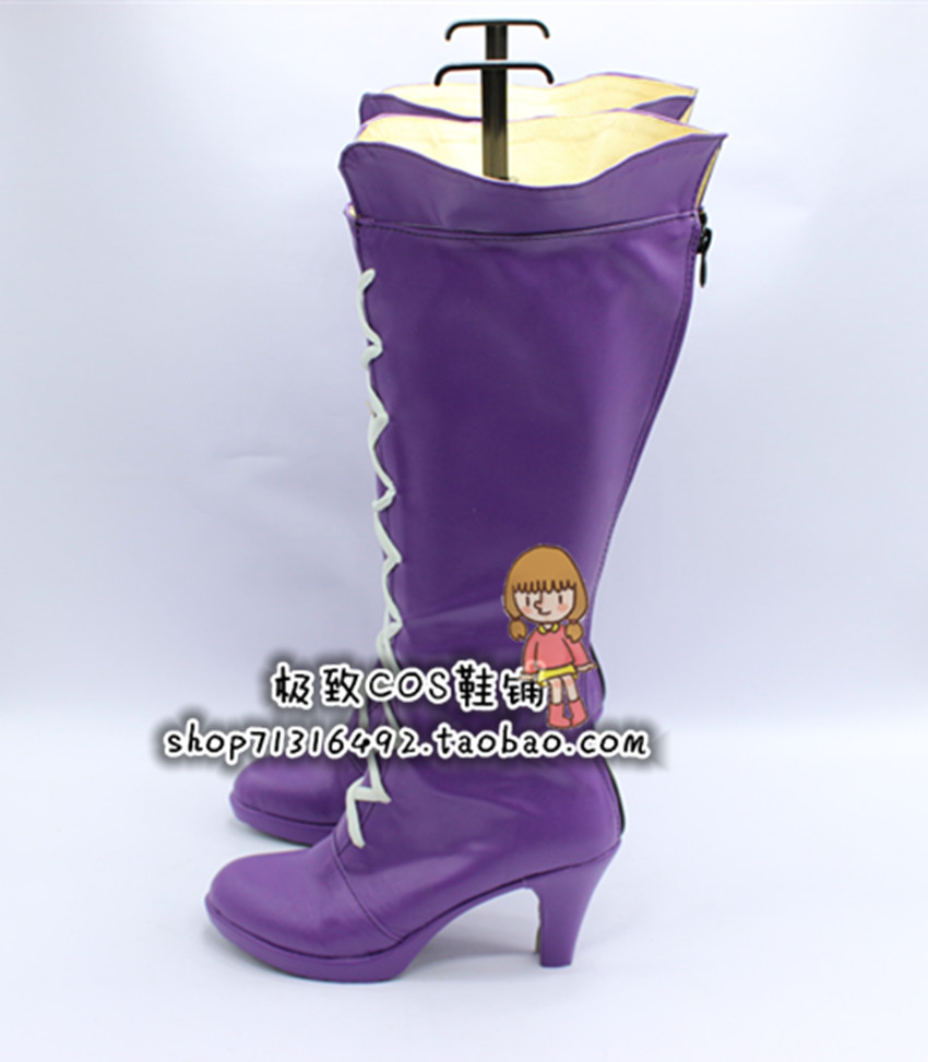 LOL Miss Unfortune Purple Girls Cosplay Shoes Boots X002