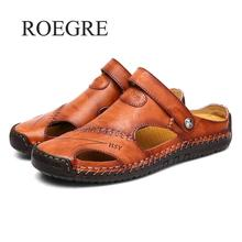 Classic Men Soft Sandals Comfortable Men Summer Shoes Leather Sandals Big Size Soft Sandals Men Roman Comfortable Men Summer