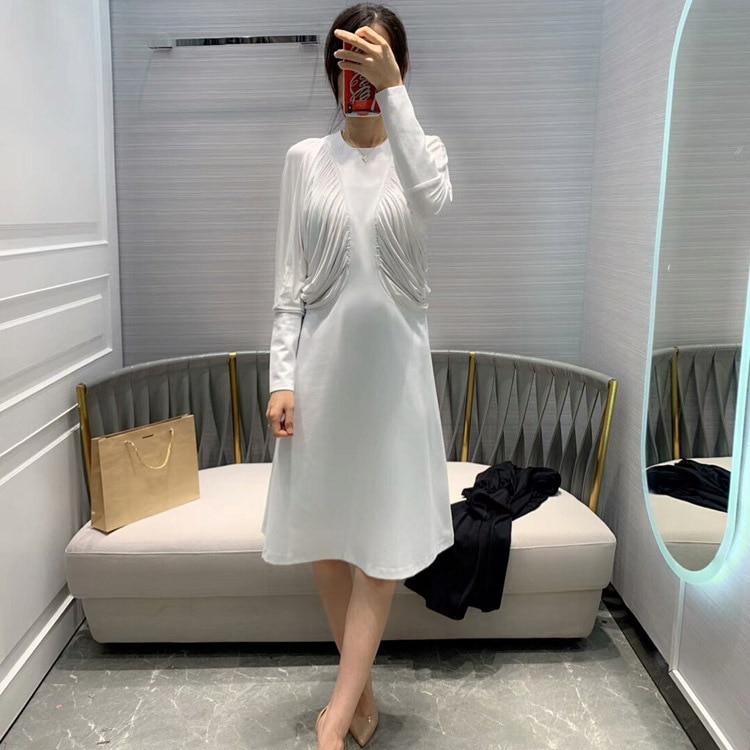 2019 أزياء النساء اللباس 2 الألوان at190130-في فساتين من ملابس نسائية على  مجموعة 1