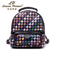 2017 Brand Popular Simple And Elegant Women Backpacks Hand Woven Genuine Leather Fashion Unisex School Backpacks