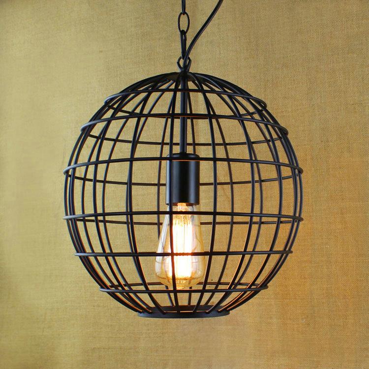 Round Iron Pendant Lamp Modern Vintage Industrial Bar