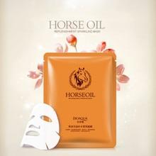 BIOAQUA Horse oil Facial Mask Moisturizing Face Mask Oil Control Brighten Wrapped Mask Skin Care