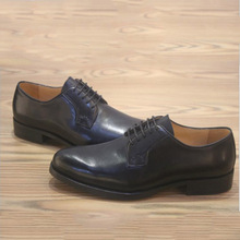 Mens Genuine Leather Black Dress Shoes