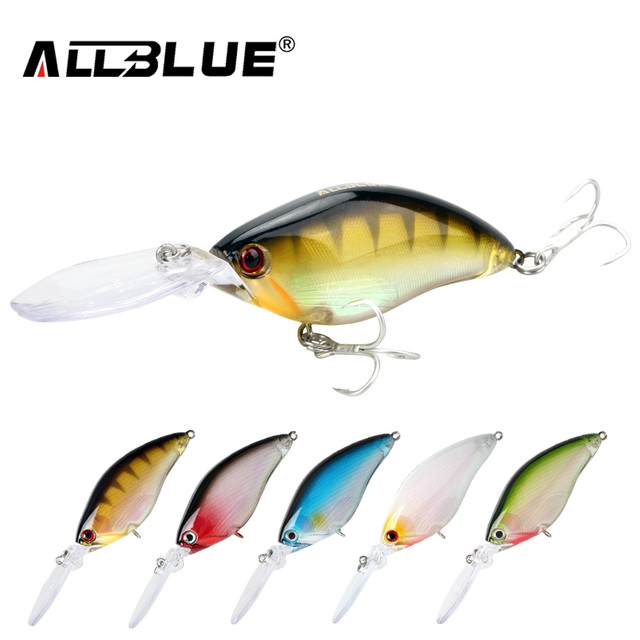 ALLBLUE Floating Deep Diving Crankbait Fishing Lures 17.8g/70mm Lifelike Wobblers With 6# Hooks peche isca artificial
