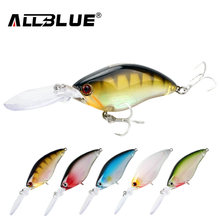 ALLBLUE Floating Deep Diving Crankbait Fishing Lures 17.8g/70mm Lifelike Wobblers With 6# Hooks peche isca artificial(China)