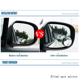 Image 5 - Auto Car Accessories Blind Spot Mirror for dead zone safety Convex glass round shape 360 degree rotable rear view mirror