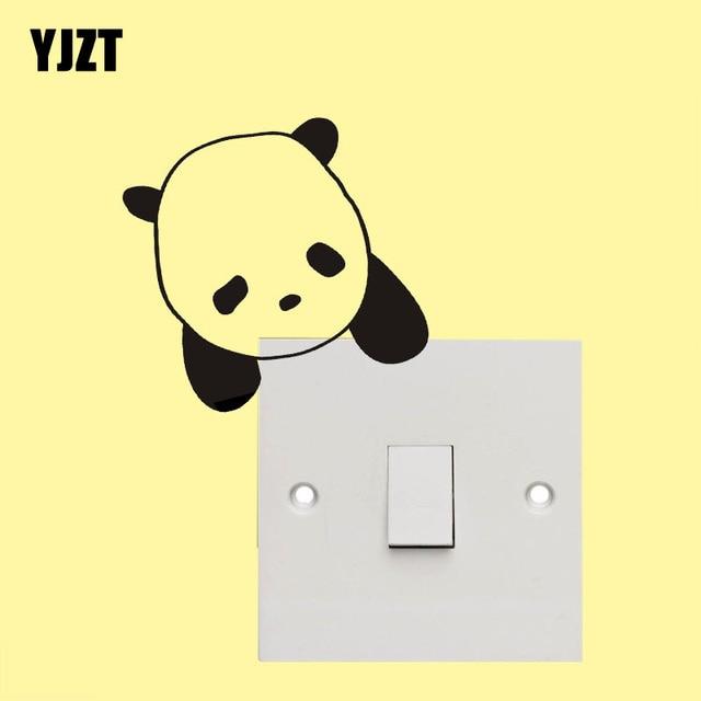 Lazy Panda Vinyl Wall Decal Decor Modern Switch Sticker Cartoon ...