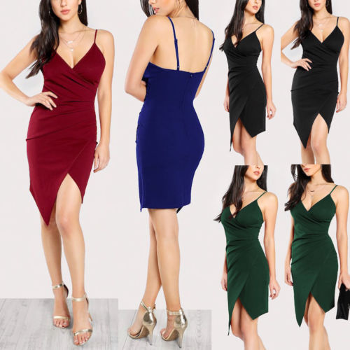Stylish Hot Sale Women Sexy V-neck Sling Backless Asymmetric Bustier High-waist Elegant Short Dress Lady Ball Party Dress S-XXL