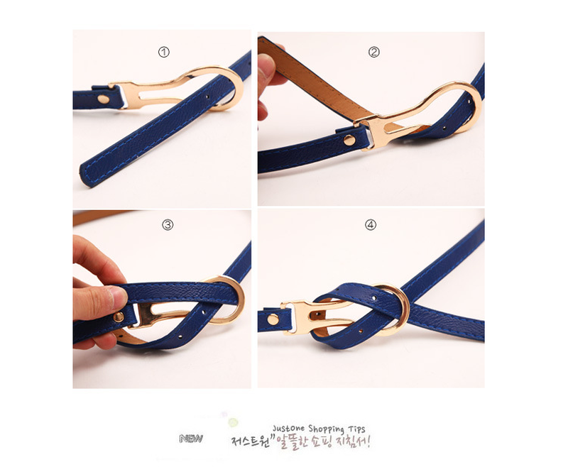 2019 Korean Style Decoration Knotted Thin Belt Belts for Women Wild Simple Summer Yellow Color Buckle Belt for Female Ceinture in Women 39 s Belts from Apparel Accessories