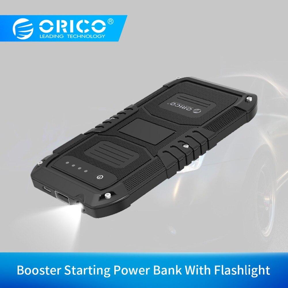 ORICO voiture chargeur de batterie de secours Mini Portable Mobile batterie externe Booster démarrage batterie externe pour téléphone avec lampe de poche