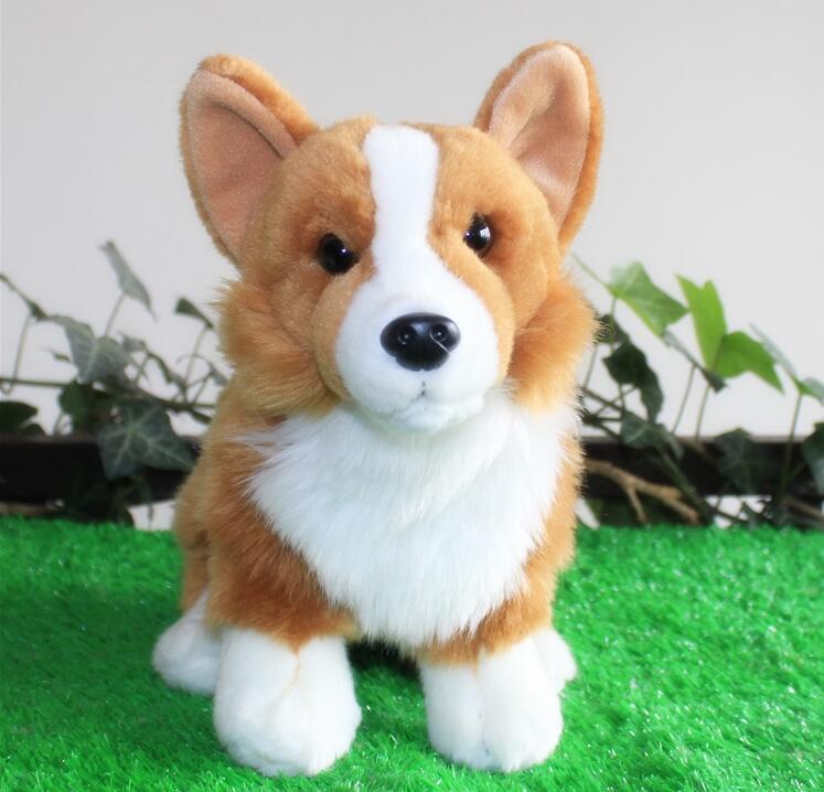 ФОТО Hot Sale Super Kawaii  Plush  Welsh Corgi Doll  Toys  Stuffed Dogs Car Toy Pillow  Home Decoration  Holiday Gift