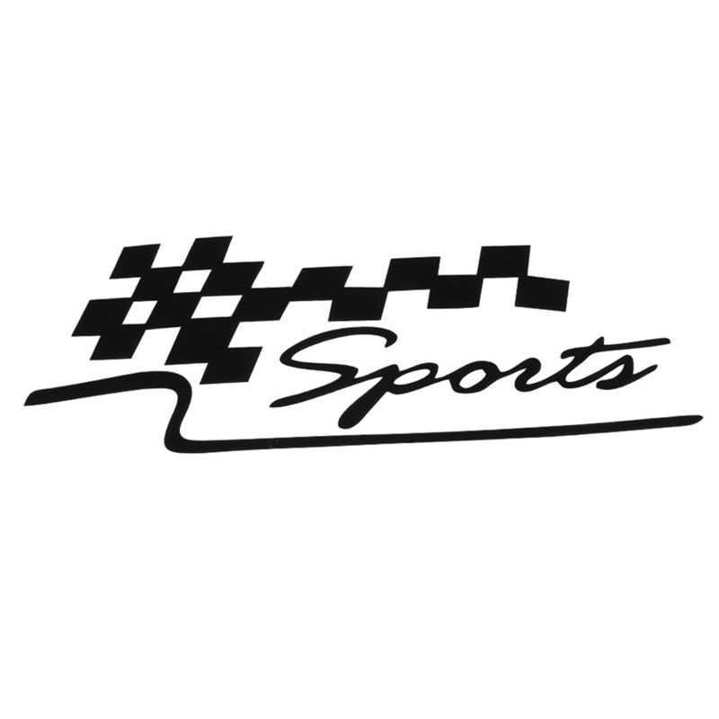 Corrida Esportes Bandeira Definir Adesivos de Carro Auto Motocicleta Vinil Reflexivo Adesivos de Carro Carro Styling