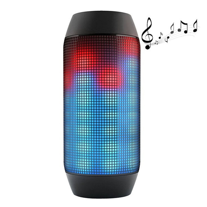 Outdoor Flash Lighter Speaker LED Glow Pulse Lighting Mini Portable Wireless Bluetooth 3D Super Bass Speakers