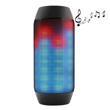 Flash en plein air Léger Haut-Parleur LED Glow Pulse Éclairage Mini Portable Sans Fil Bluetooth 3D Super Bass Haut-parleurs Boombox AUX USB TF